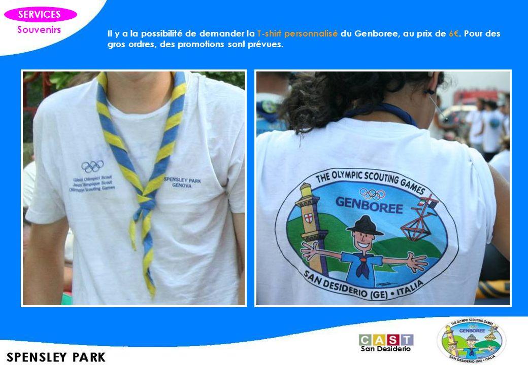 Souvenirs SERVICES Il y a la possibilité de demander la T-shirt personnalisé du Genboree, au prix de 6. Pour des gros ordres, des promotions sont prév