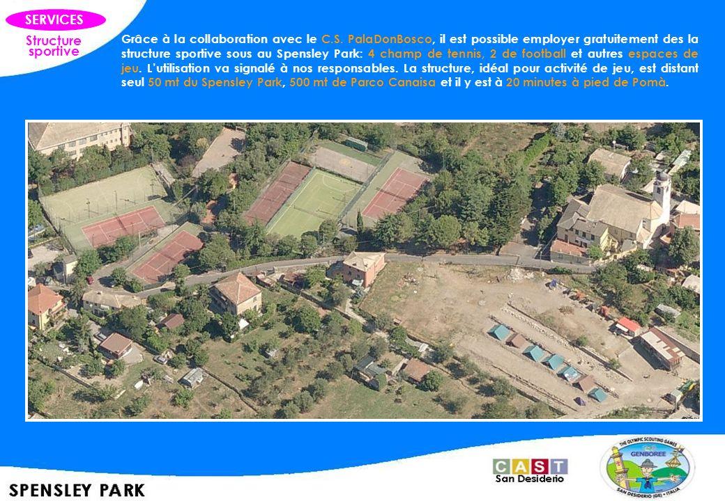 Structure sportive SERVICES Grâce à la collaboration avec le C.S. PalaDonBosco, il est possible employer gratuitement des la structure sportive sous a