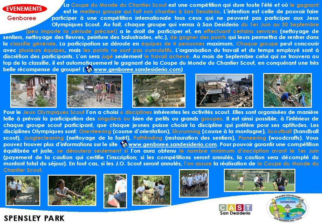 Pour le Jeux Olympiques Scout lon a choisi 6 disciplines inhérentes les activités scout. Elles sont organisées de manière telle à prévoir la participa
