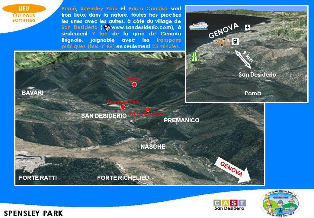 Pomà, Spensley Park et Parco Canaisa sont trois lieux dans la nature, toutes très proches les unes avec les autres, à côté du village de San Desiderio