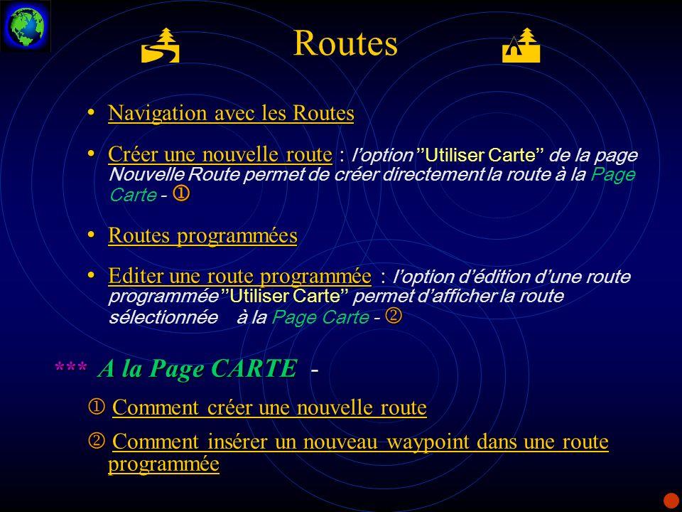 Routes Navigation avec les Routes Navigation avec les Routes Navigation avec les Routes Navigation avec les Routes Créer une nouvelle route : Créer un