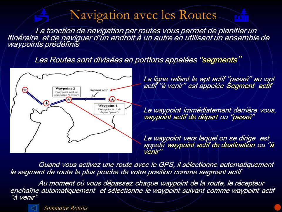 Navigation avec les Routes Navigation avec les Routes La fonction de navigation par routes vous permet de planifier un itinéraire et de naviguer dun e