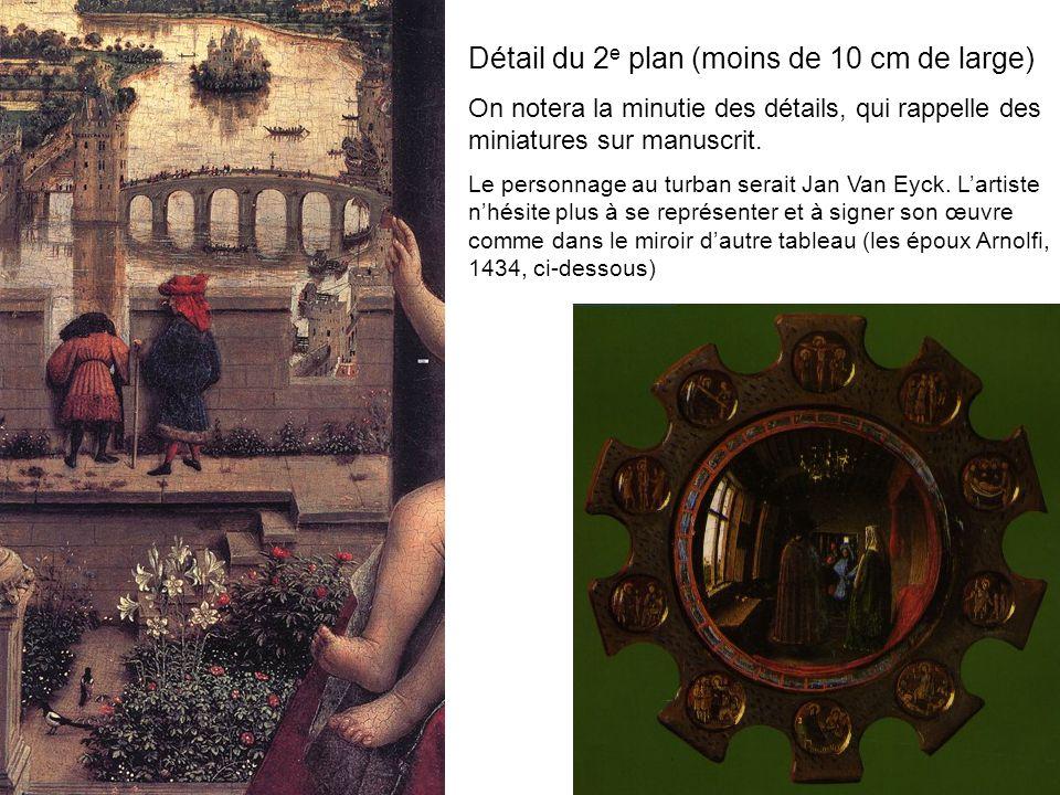 Détail du 2 e plan (moins de 10 cm de large) On notera la minutie des détails, qui rappelle des miniatures sur manuscrit. Le personnage au turban sera