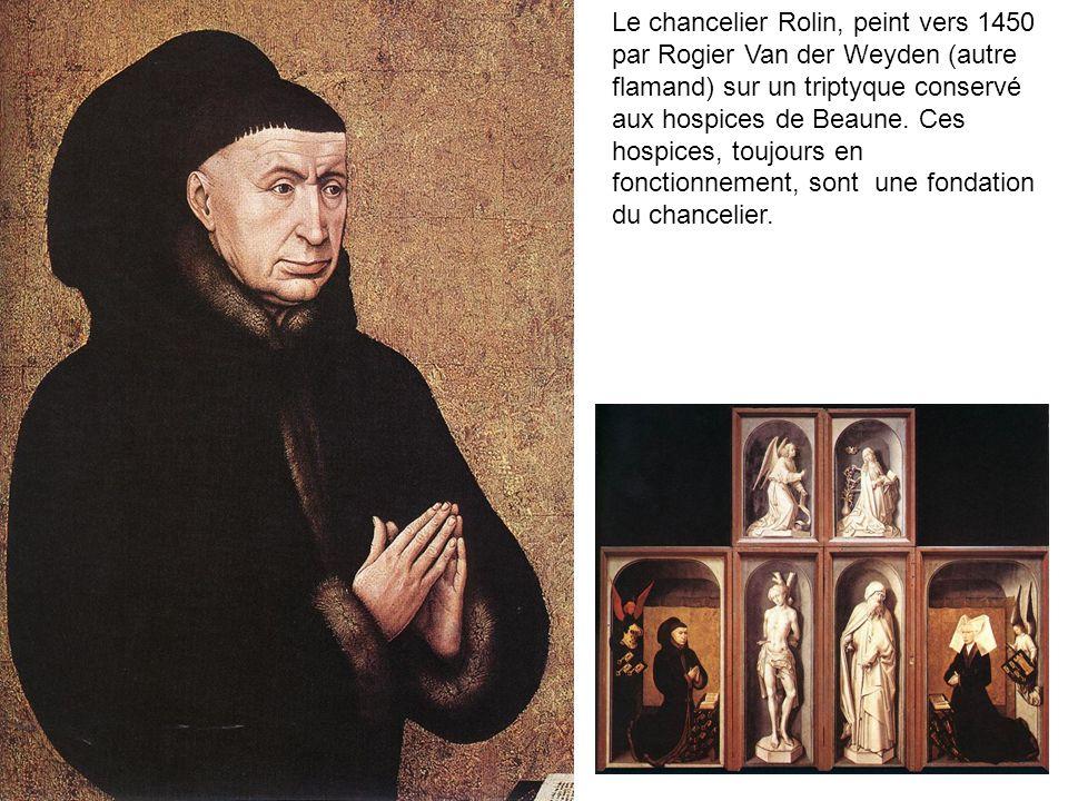Le destinataire Tableau à la gloire de Rolin pour la cathédrale dAutun où sont enterrés ses parents.