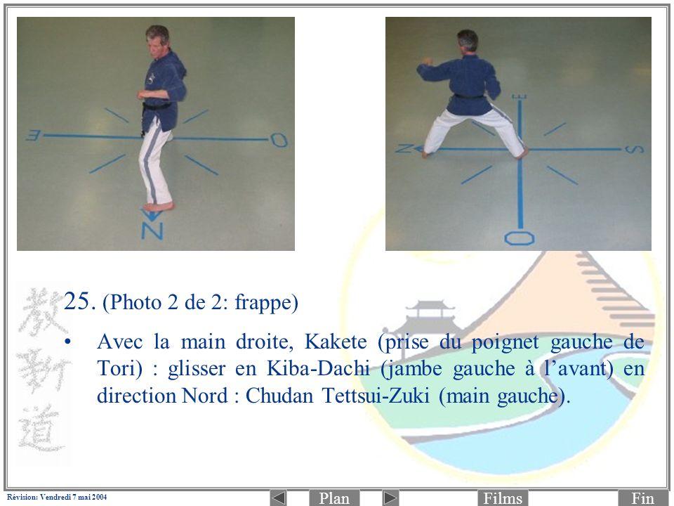 PlanFinFilms Révision: Vendredi 7 mai 2004 25. (Photo 2 de 2: frappe) Avec la main droite, Kakete (prise du poignet gauche de Tori) : glisser en Kiba-