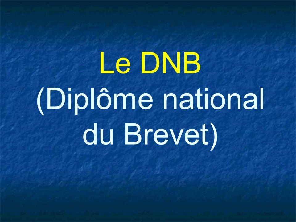 Le DNB (Diplôme national du Brevet)