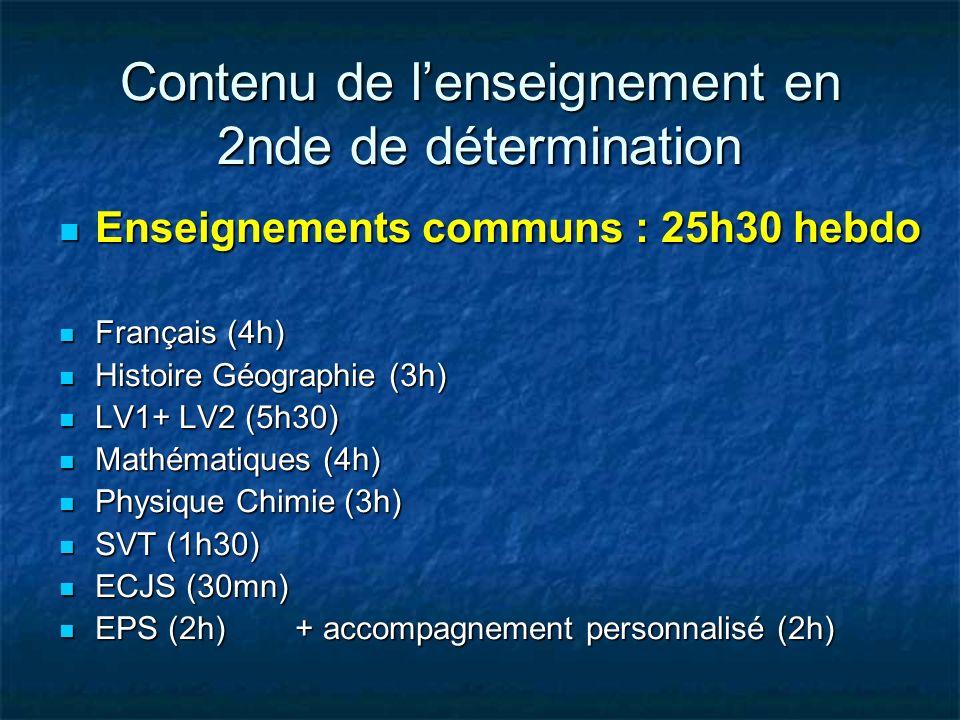 Enseignements communs : 25h30 hebdo Enseignements communs : 25h30 hebdo Français (4h) Français (4h) Histoire Géographie (3h) Histoire Géographie (3h)