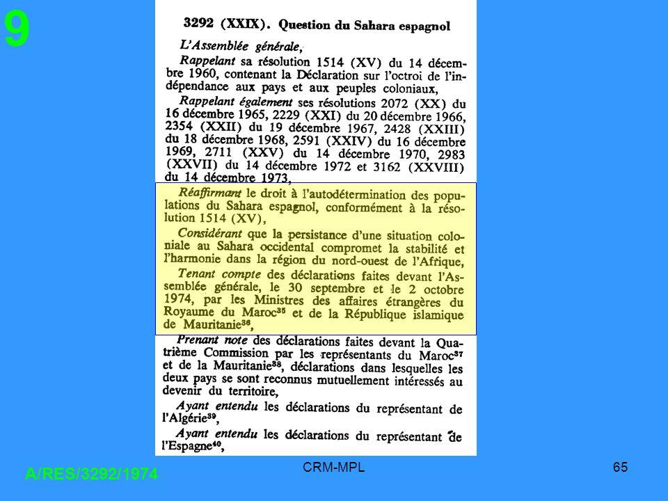 CRM-MPL65 A/RES/3292/1974 9
