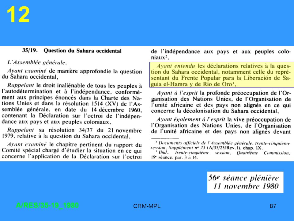 CRM-MPL87 12 A/RES/35-19_1980