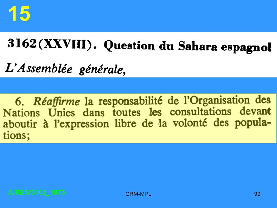 CRM-MPL99 15 A/RES/3162_1973