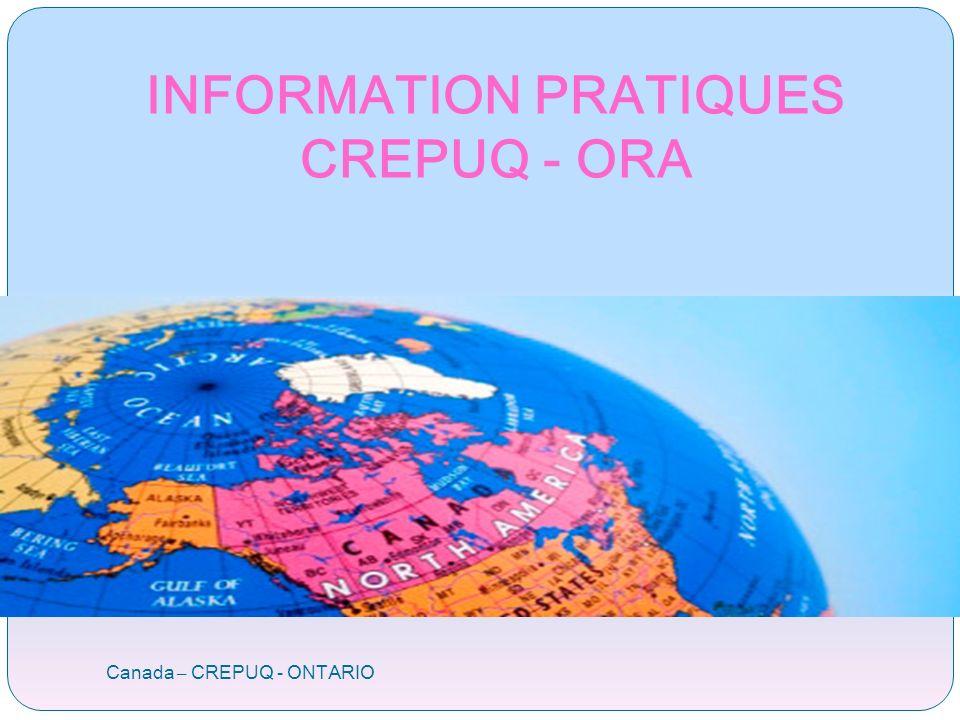 Canada – CREPUQ - ONTARIO INFORMATION PRATIQUES CREPUQ - ORA