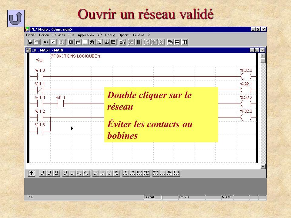 Modifier ladresse dune étape 2 Confirmer Si ce message apparaît 1 Double cliquer sur létape 3 Modifier ladresse 4 valider ladresse valider la page Connecté : Automate en STOP