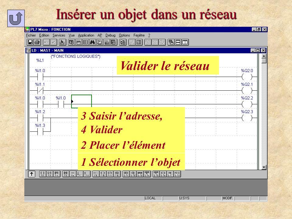 Modifier ladresse dun objet 1 Double cliquer sur lobjet 2 Modifier ladresse 3 Valider 4 Valider le réseau