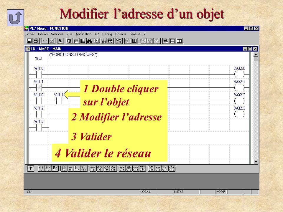 Modifier étiquette ou commentaire 1 : Accéder au réseau à modifier 2 Modifier N° ou commentaire 3 Valider 1 Double cliquer ou espace sur la zone à modifier