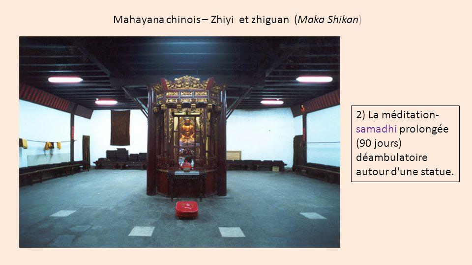 Mahayana chinois – Zhiyi et zhiguan (Maka Shikan) 2) La méditation- samadhi prolongée (90 jours) déambulatoire autour d'une statue.