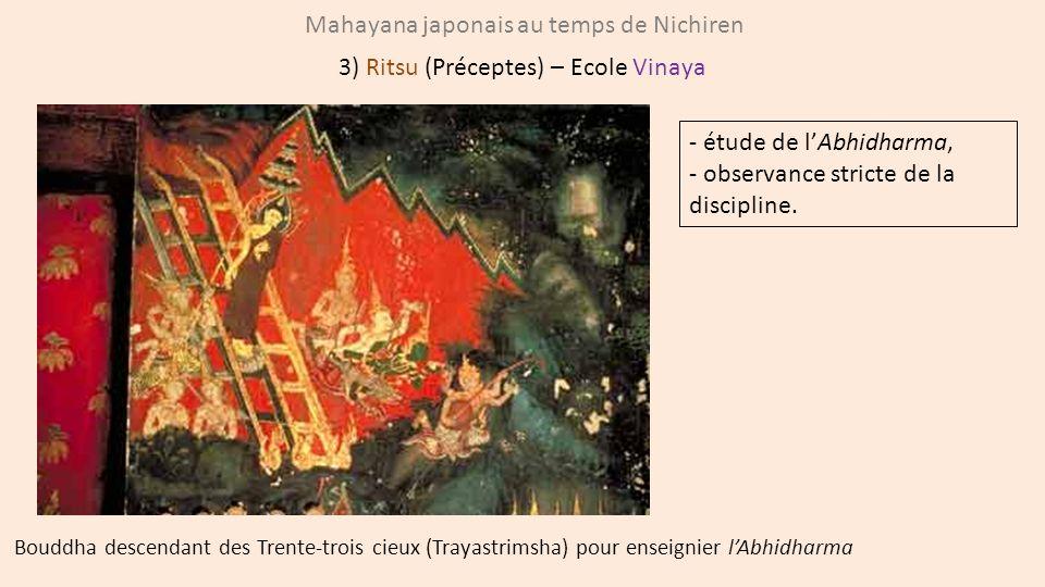 Mahayana japonais au temps de Nichiren 3) Ritsu (Préceptes) – Ecole Vinaya Bouddha descendant des Trente-trois cieux (Trayastrimsha) pour enseignier l