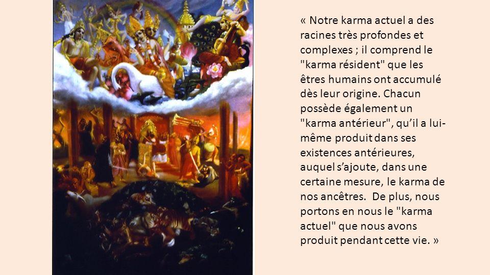 « Notre karma actuel a des racines très profondes et complexes ; il comprend le