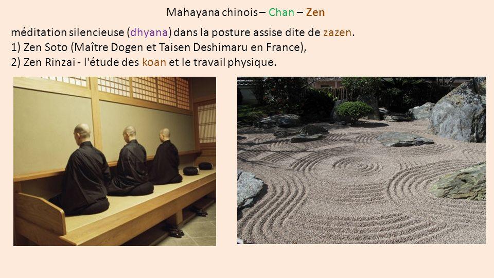 Lignées Nichiren en Occident par ordre chronologique de leur introduction en France 1) Nichiren Shoshu (lignée Nikko) - Bouddha : Nichiren - Nam-myoho-renge-kyo - Sutra du Lotus, chapitres II et XVI (5 fois le matin, 3 fois le soir), - temple principal au Taisekiji, - Daigohonzon unique, - Kechimyaku : transmission, entre grands-patriarches.