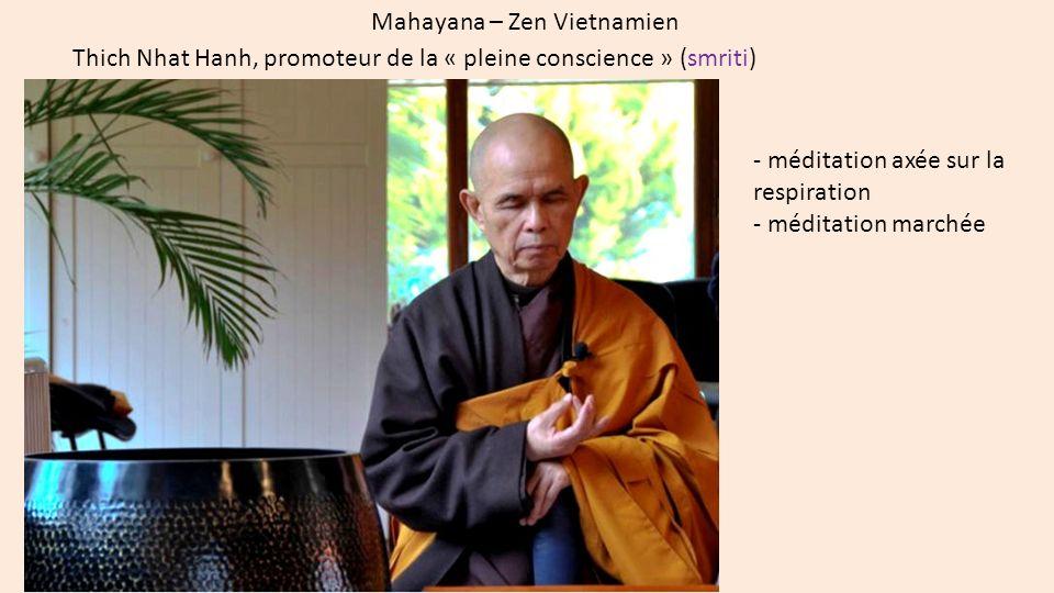 Mahayana chinois – Zhiyi et zhiguan (Maka Shikan) quatre samadhis (méditations concentrées) = shishu zanmai zhiguan = zhi : concentration, et guan : intuition/perception.