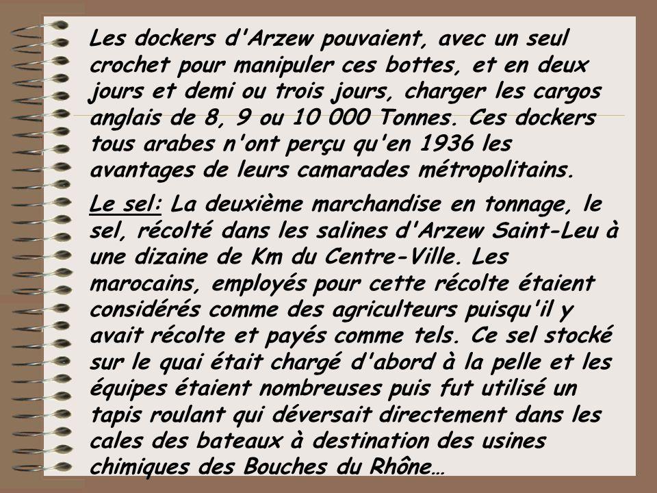 Marchandises diverses: Tuiles de Marseille, ciment, et tout-venant.