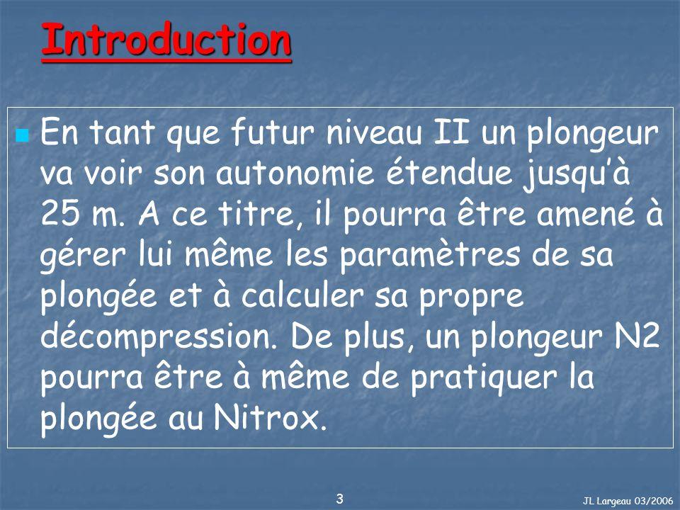 JL Largeau 03/2006 114 Nitrox : Introduction Le Nitrox (EAN en anglais) Nitrox vient de NITRogene (Azote en anglais) et OXygene.