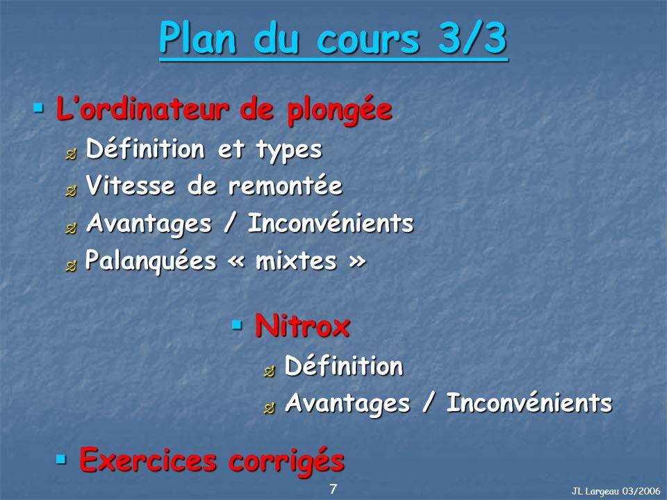 JL Largeau 03/2006 98 Procédures : Palier interrompu. Exercice 12 corrigé