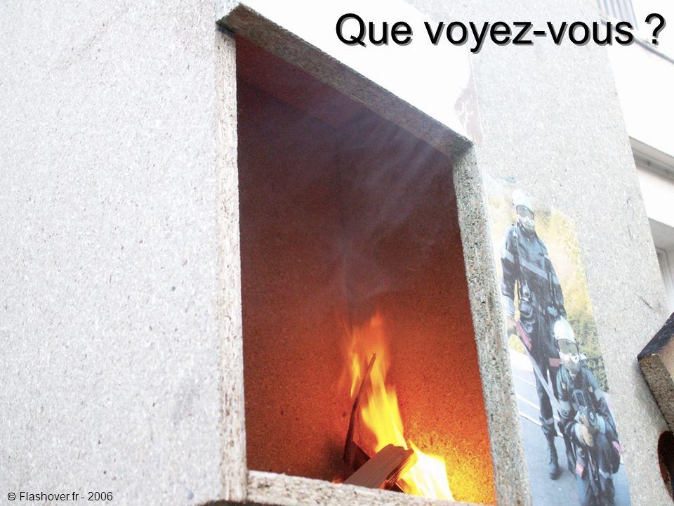 Le feu est dans sa phase naissante.