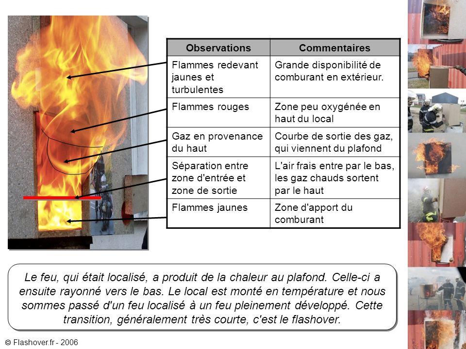 Le feu, qui était localisé, a produit de la chaleur au plafond.