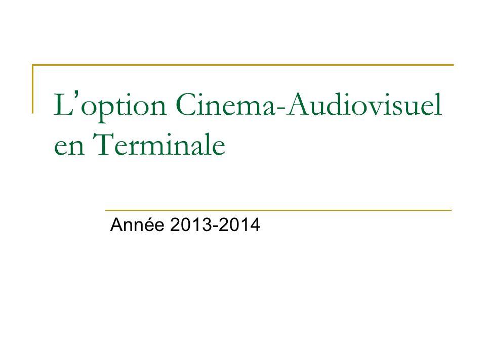 L option Cinema-Audiovisuel en Terminale Année 2013-2014