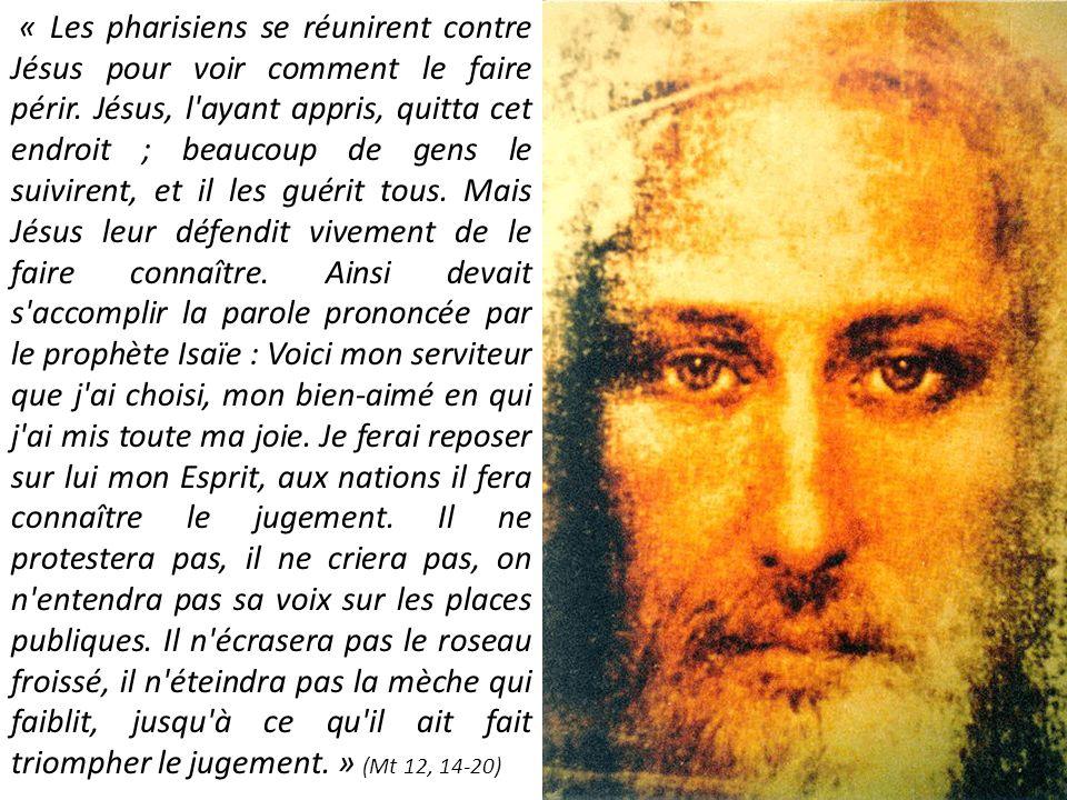 « Les pharisiens se réunirent contre Jésus pour voir comment le faire périr. Jésus, l'ayant appris, quitta cet endroit ; beaucoup de gens le suivirent