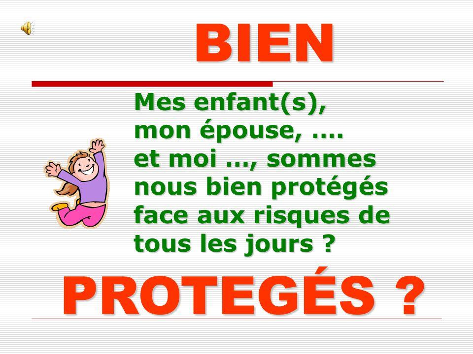 PROTEGÉS .BIEN Mes enfant(s), mon épouse, ….