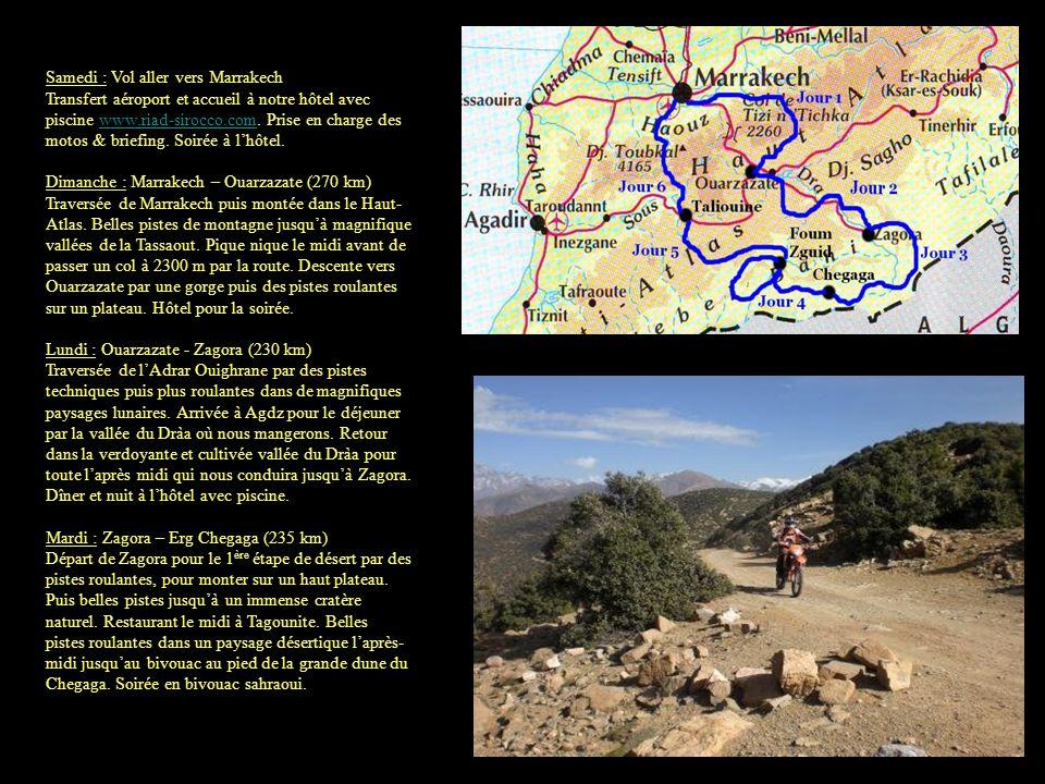Mercredi : Erg Chegaga – Foum Zguid (225 km) Etape de pur désert.