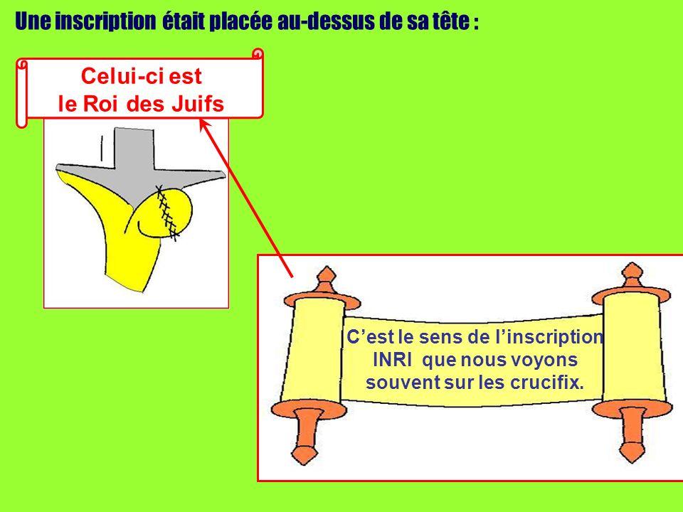 Lun des malfaiteurs suspendus à la croix linjuriait : Nes-tu pas le Messie .