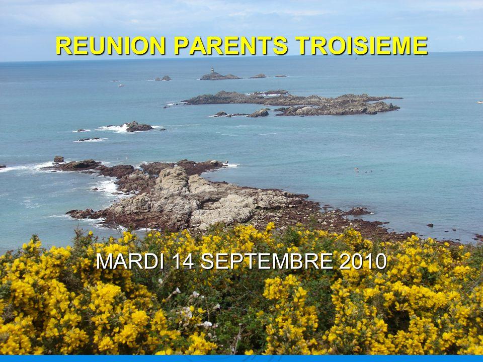 REUNION PARENTS TROISIEME MARDI 14 SEPTEMBRE 2010