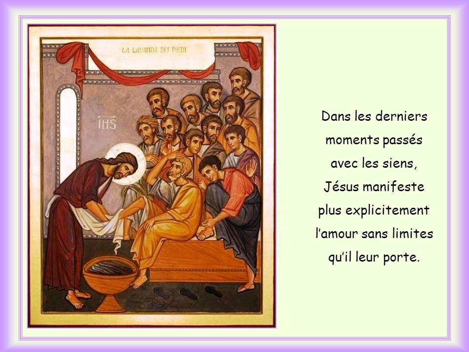 Lévangéliste Jean la place juste avant que Jésus sapprête à laver les pieds de ses disciples et se prépare à sa passion.