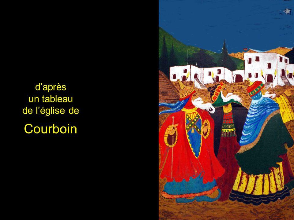 daprès un tableau de léglise de Courboin
