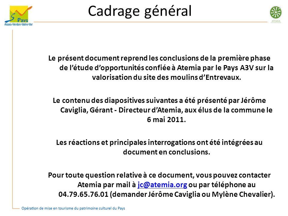 Cadrage général Le présent document reprend les conclusions de la première phase de létude dopportunités confiée à Atemia par le Pays A3V sur la valor