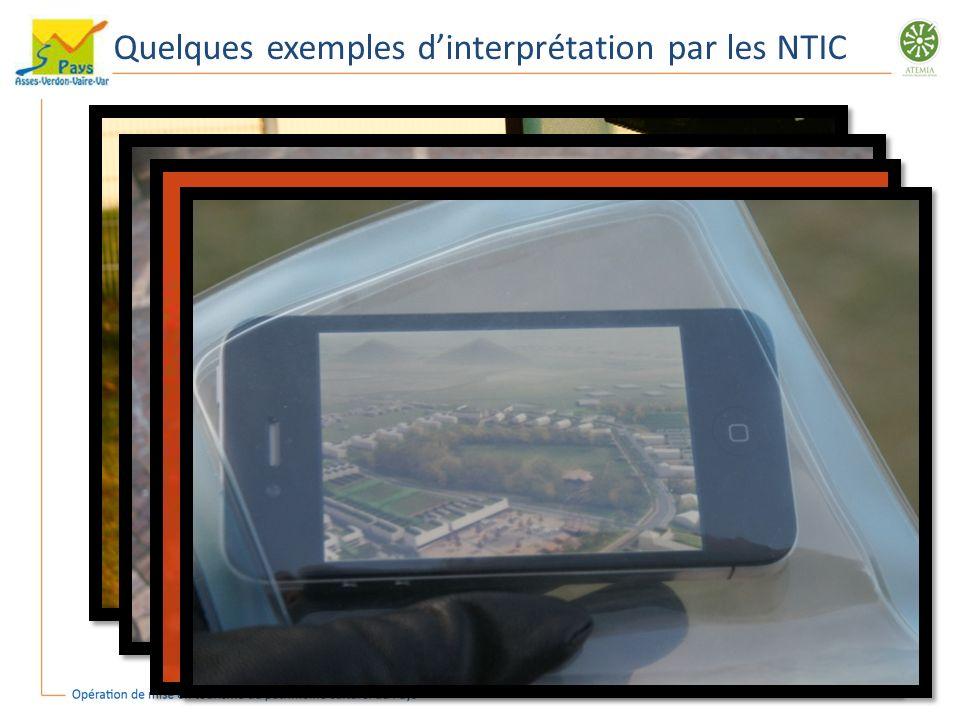 Quelques exemples dinterprétation par les NTIC