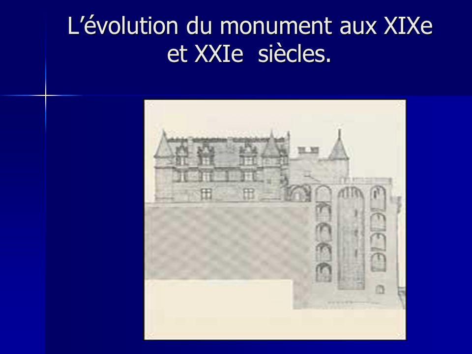 Lévolution du monument aux XIXe et XXIe siècles.