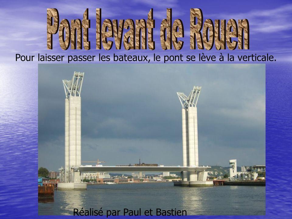 Réalisé par Paul et Bastien Pour laisser passer les bateaux, le pont se lève à la verticale.