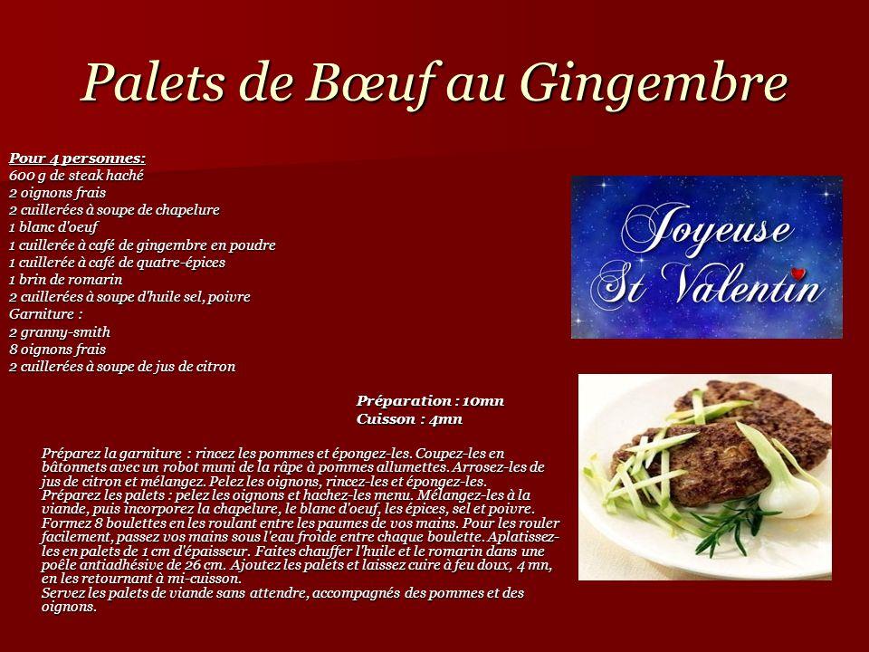 Palets de Bœuf au Gingembre Pour 4 personnes: 600 g de steak haché 600 g de steak haché 2 oignons frais 2 oignons frais 2 cuillerées à soupe de chapel