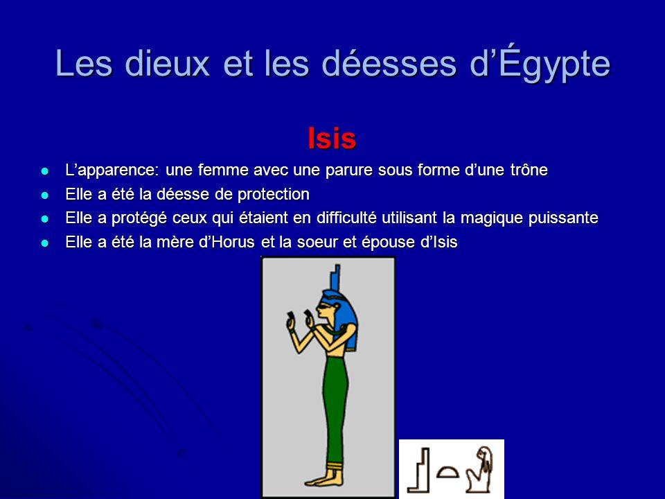 Isis Lapparence: une femme avec une parure sous forme dune trône Lapparence: une femme avec une parure sous forme dune trône Elle a été la déesse de p
