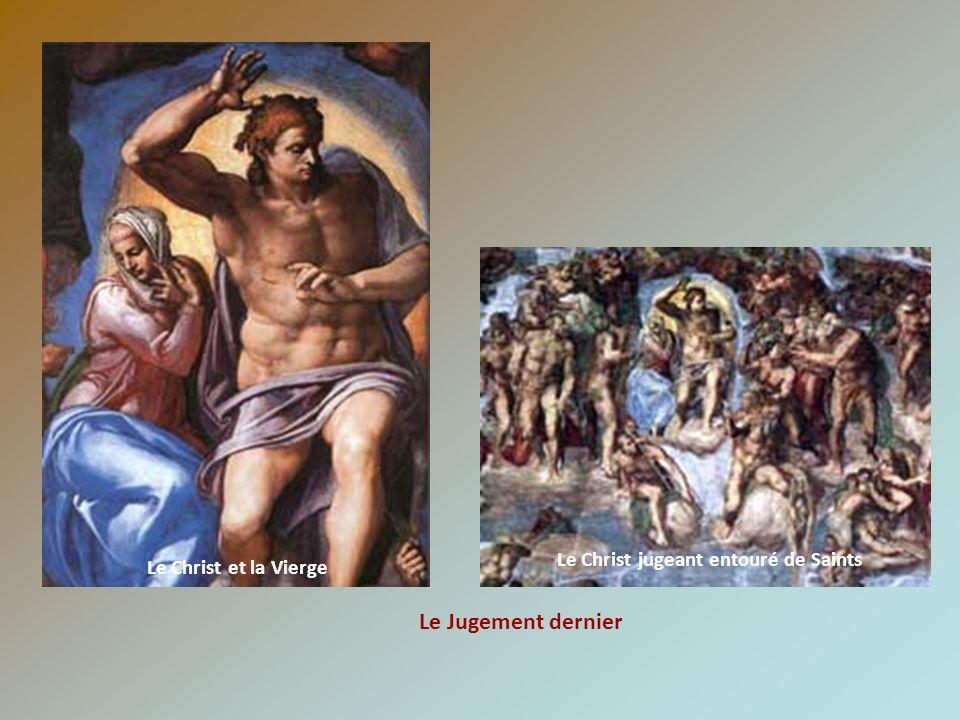 Le Christ et la Vierge Le Jugement dernier Le Christ jugeant entouré de Saints