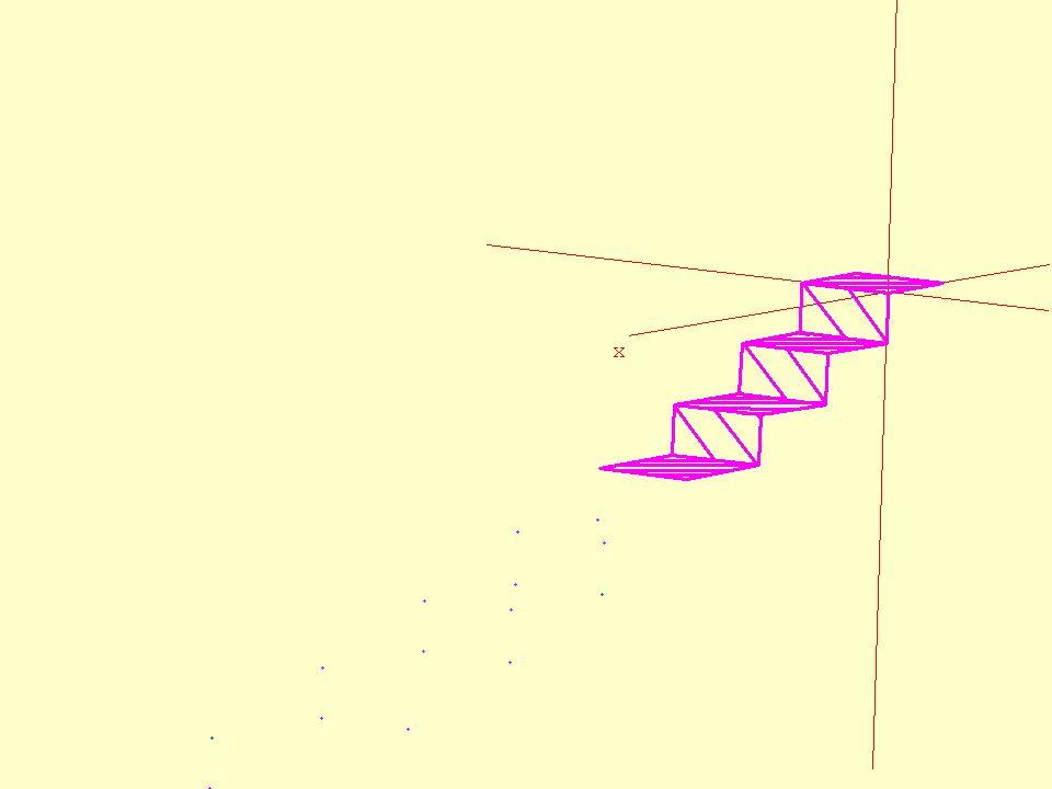Après Bien que la parabole soit une figure plane, lescalier sur lequel elle doit reposer, est une figure en trois dimensions.
