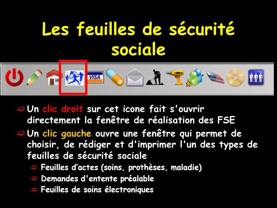 Les feuilles de sécurité sociale