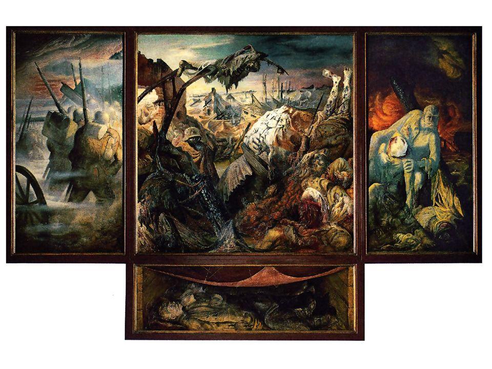 Un triptyque est une œuvre peinte réalisée sur un support composé de trois panneaux, dont les deux volets extérieurs peuvent se replier sur le panneau central.
