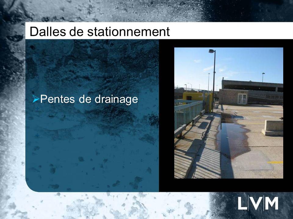 Dalles de stationnement Pentes de drainage Insert photo