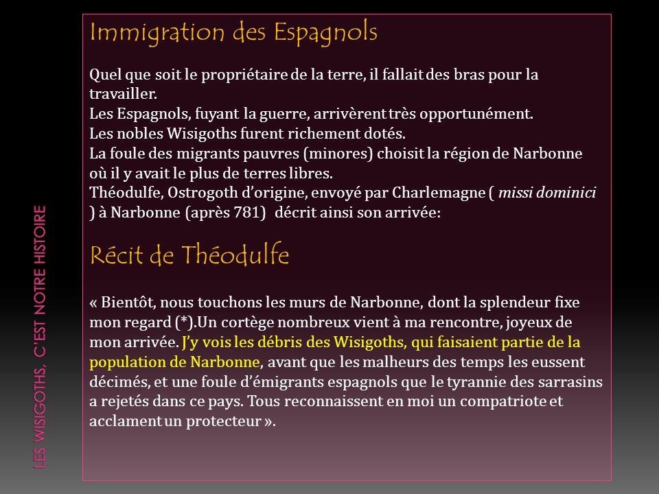 Immigration des Espagnols Quel que soit le propriétaire de la terre, il fallait des bras pour la travailler. Les Espagnols, fuyant la guerre, arrivère