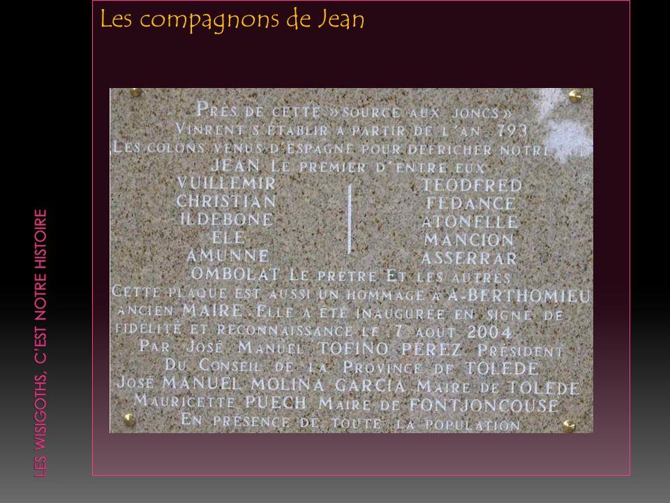 Plaid de 834: « Ces hommes (ceux que Jean avait établis sur le domaine de Fontjoncouse) sétaient recommandés à lui et lavaient pour patron; tout ce quils avaient construit ou mis en culture, les maisons, les locaux, les jardins, les champs et les vignes, ils lavaient fait par suite des dons et des libéralités que Jean leur avait consentis, mais non par leur aprision, ni par la libéralité du Comte, du Vicomte ou de toute autre personne ».