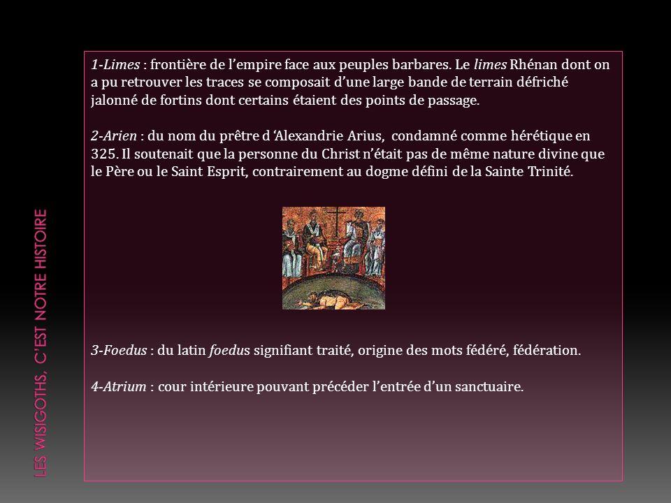 Nous avons retracé sommairement lhistoire des Wisigoths et de la Narbonnaise dans le dernier Lurio (n° 28).